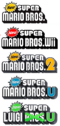 New Super Mario Bros. 1-5-Logos