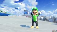 Luigi surfing suit