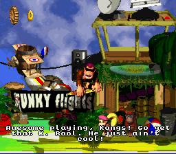 DKC2 Screenshot Funkys Flüge