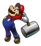 Mario usando el martillo