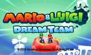 Mario & Luigi Dream Team Title Screen