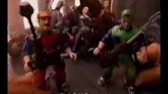Super Mario Bros - Action Figures - TV Toy Commercial - TV Ad - TV Spot - ERTL - 1993