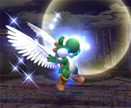 Yoshi utilizando su poder smash final 1