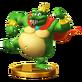 King k. rool trofeo WiiU