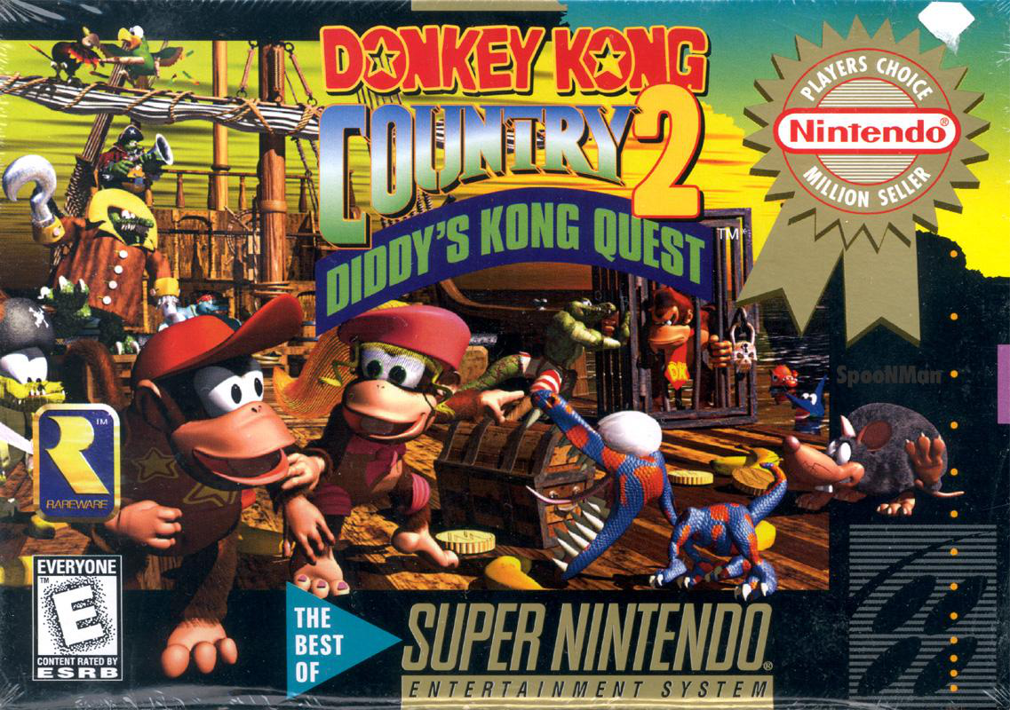 Image result for diddy's kong quest cover