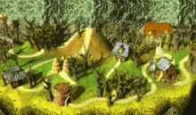 DKC2 Screenshot Düsterschlucht