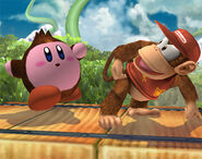 Kirby Donkey Kong SSBB