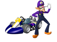 MKW Artwork Waluigi