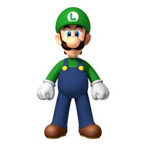 NSMBW Artwork Luigi