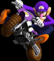 Waluigi Artwork - Mario Kart Wii