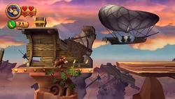 DKCR Screenshot Schiffsschaukel