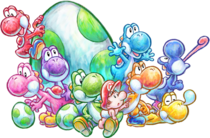 Group artwork - Yoshi's New Island