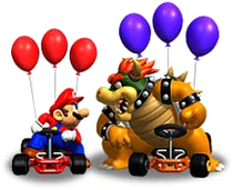 Art Bowser et Mario Super Circuit