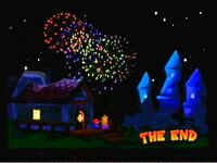 Mario Peach feux d'artifice