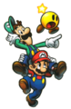 Mario & Luigi Artwork M&L3 2