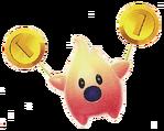 Hungry Coin Luma Artwork - Super Mario Galaxy 2
