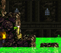 DKC2 Screenshot Giftgemäuer