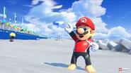 Mario surfing suit