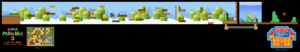 SMB3 World 1-4 SNES level map