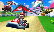 Peach's Castle - Paragliding - Mario Kart 7