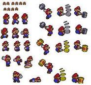 PM Screenshot Sprites von Mario