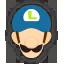 Icône Luigi bleu foncé Ultimate