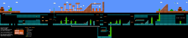 SMB World 4-2 NES level map