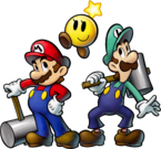 M&L3 Artwork Mario Luigi & Glitzerstern