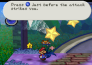 Action Command Tutorial Defense (Paper Mario)