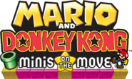 Mario Vs Donkey Kong Minis on the Move Logo