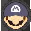 Icône Mario noir Ultimate
