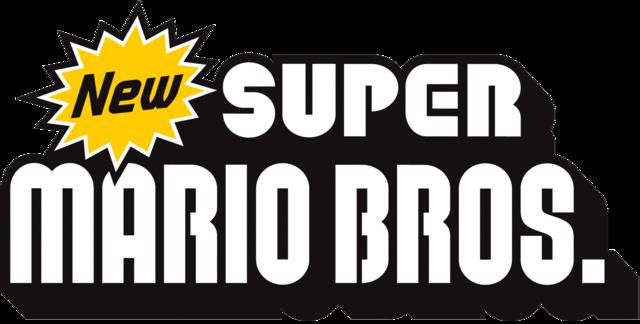 New super mario bros logo