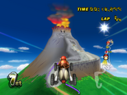 DK Mountain - Fired Cannon - Mario Kart Wii