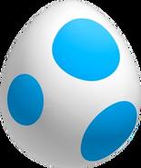 Yoshi Ei Blau NSMBWii