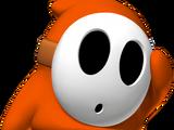 Orangener Shy Guy