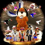 Duo Duck Hunt - SSBWiiU (trophée NES Zapper)
