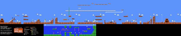 SMB World 5-2 NES level map