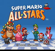 Super mario all-stars écran titre