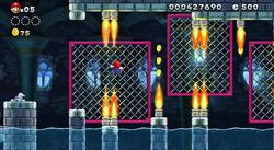 El castillo Torpedo de Larry parte al aire (NSMB.U)