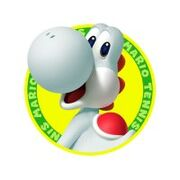 Resized 200x200 N3DS Mario Tennis Open Artwork Yoshi weiss 1