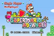 Title Screen (Super Mario Advance)