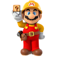Builder Mario w block