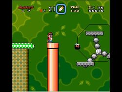 SMW Screenshot Donut-Ebene 3