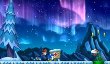 NSMBU Screenshot Leuchterscheinungen am Gletscher der Stachel-Gumbas