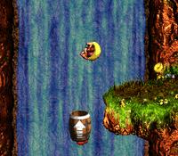 DKC3 Screenshot Fässer-Feuerwerk