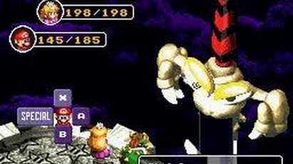 Super Mario RPG - Batalla contra Exor