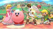 Kirby princess peach pit and toon link by user15432-daid2k2