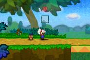 Mario Activating a Heart Box (Paper Mario)