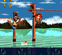 DKC3 Screenshot Kriechende Klasps