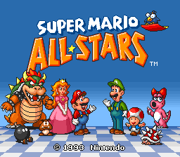 Файл:Super Mario All-Stars - Title Screen.png